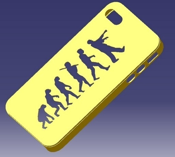 iPhone 4S Evolution Case 3D Print 129836
