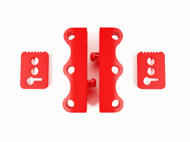 NO magnet SHOES latch fasteners 3D Print 129837