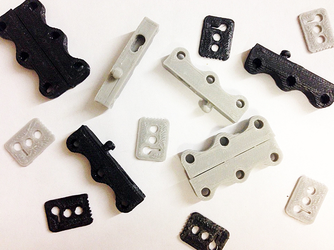 NO magnet SHOES latch fasteners 3D Print 129838