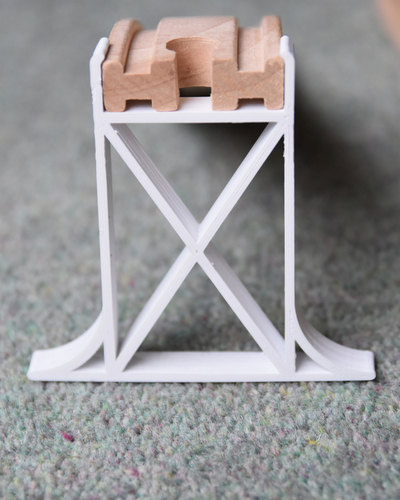 Wooden Railway Bridge Support 3D Print 129922