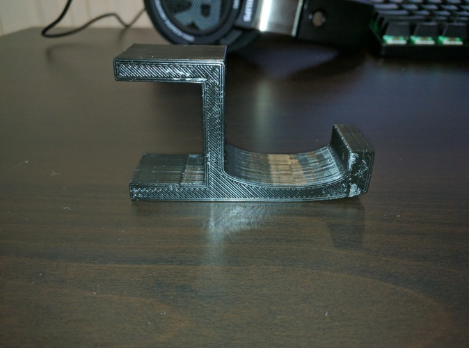 Headphone Table Hook v2.0 3D Print 129990