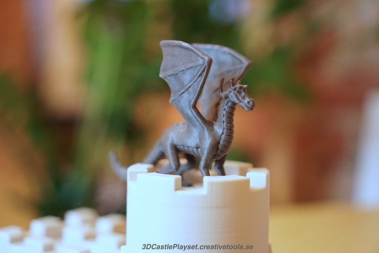 The Dragon for 3D-printable Modular Castle Playset 3D Print 129992