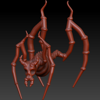 Small Spider Demon  3D Printing 130009