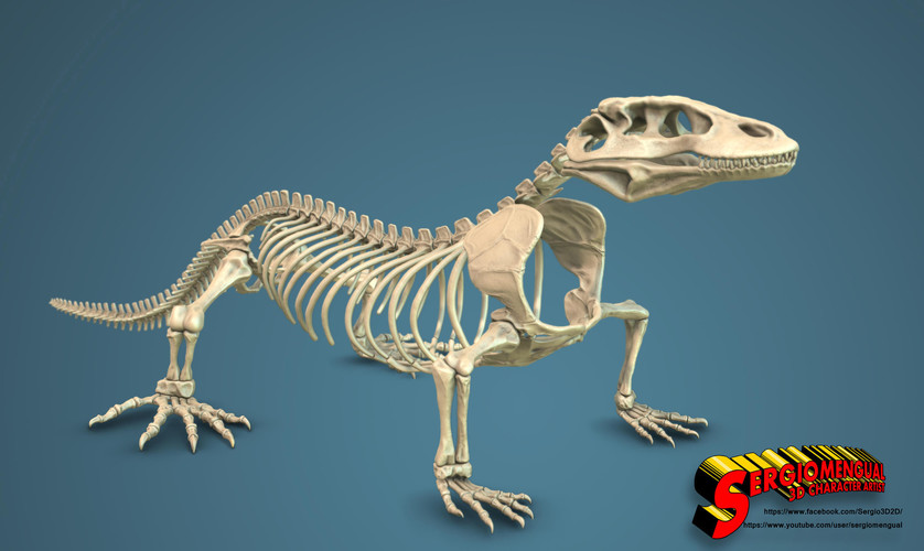 Komodo Dragon Skeleton 1:5 Scale 3D Print 130037