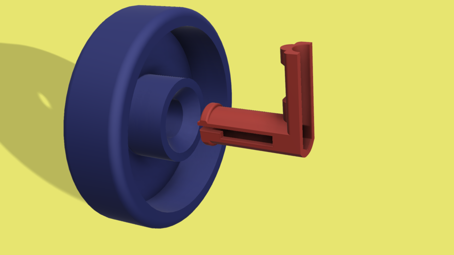 Dishwasher Wheel & Hub 3D Print 130069