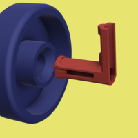 Small Dishwasher Wheel & Hub 3D Printing 130069