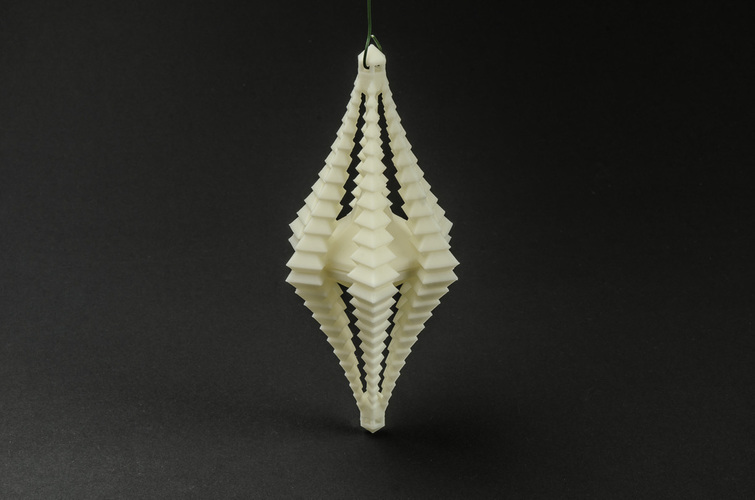 Crystal Facet Ornament 3D Print 130208
