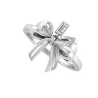 Small Bow Ring _Ribbon 3D Printing 130394