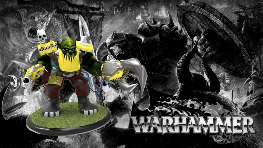 Ork Nobz with Power Claw - Warhammer 3D Print 130408