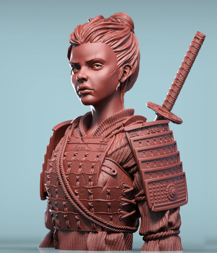 Sana the Samurai 3D Print 130436