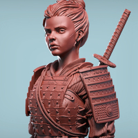 Small Sana the Samurai 3D Printing 130436