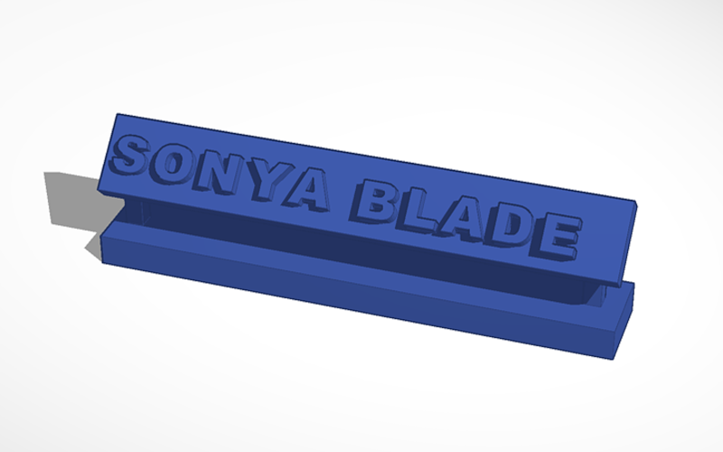 sonya blade desk decor 3D Print 130454