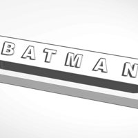 Small batman desk decor 3D Printing 130458