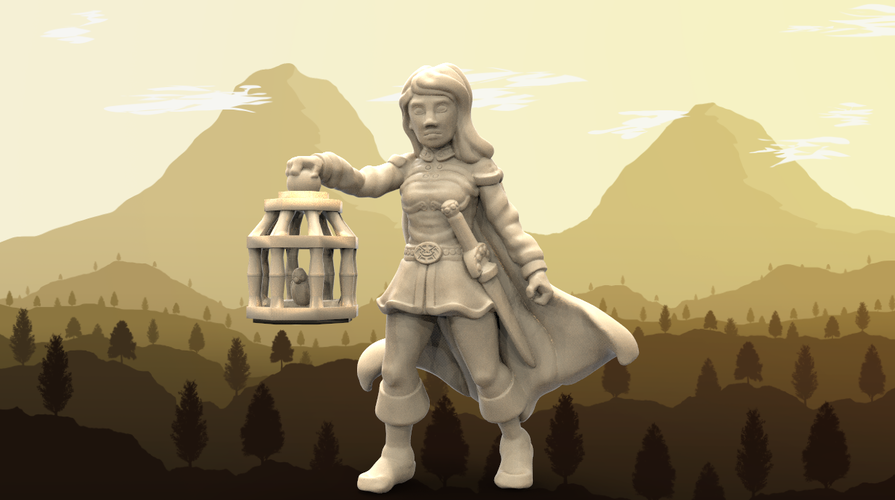 Wenda, Novice Adventurer (28mm/Heroic scale) 3D Print 130459