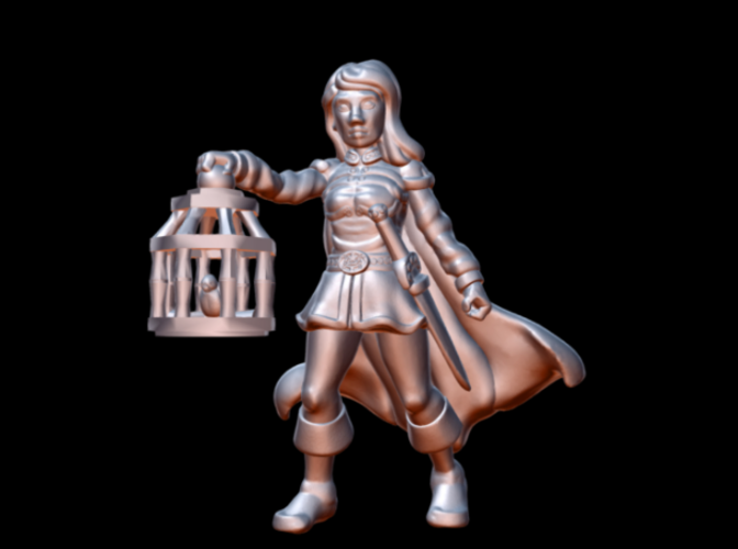 Wenda, Novice Adventurer (28mm/Heroic scale) 3D Print 130460