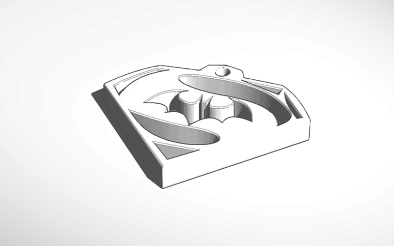 batman/superman keychain 3D Print 130461