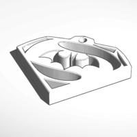 Small batman/superman keychain 3D Printing 130461