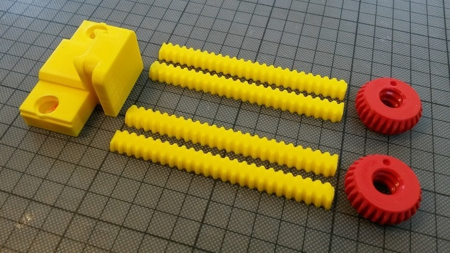Horizontally printed rods for ANOTHER Vise 3D Print 130673
