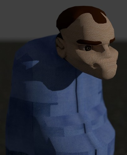 Cartoon Karl from Slingblade 3D Print 130707