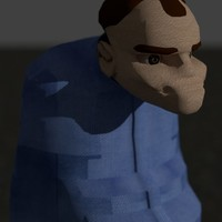 Small Cartoon Karl from Slingblade 3D Printing 130707