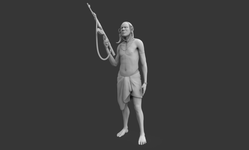 Mursi Warrior 3D Print 130719