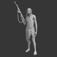 Small Mursi Warrior 3D Printing 130719