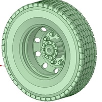 Small Truck tyre 3D Printing 130731