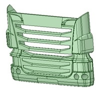Small Truck face 3D Printing 130733
