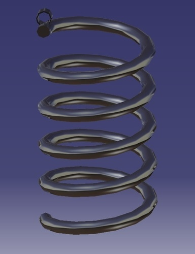 Spiral Earrings 3D Print 130734