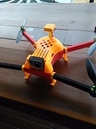T4 Quadcopter top cover 3D Print 130788
