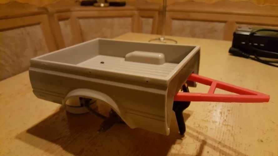 RC4WD Mojave Crawler Scaler Trailer Truck Chassis Trailer Hitch 3D Print 130807