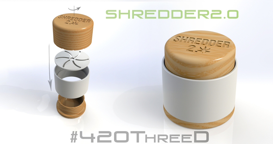 Toothless Herb Grinder - Shredder 2.0 Beta 3D Print 130811