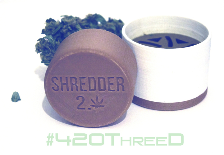 Toothless Herb Grinder - Shredder 2.0 Beta 3D Print 130818