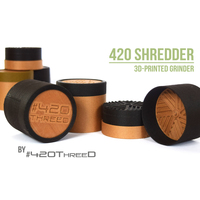 Small TOOTHLESS Herb gRINDER - by 420ThreeD 3D Printing 130827