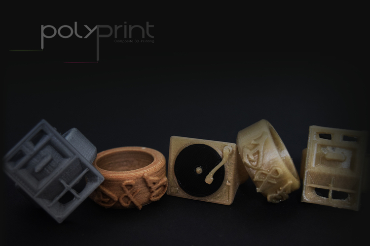 Vinyl Deck + Speaker Rings, D & B themed. 3D Print 130840