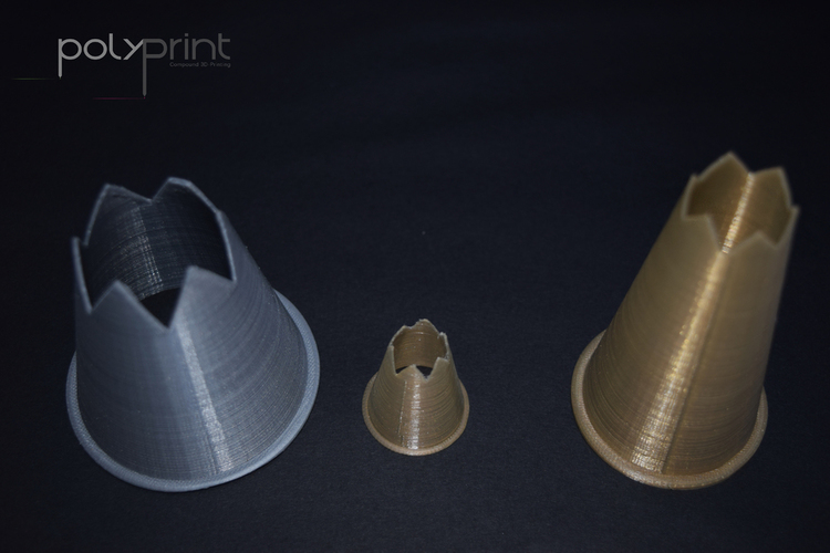 Jumbo & Scale-able Food Nozzle for Piping Bags 3D Print 130846