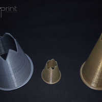 Small Jumbo & Scale-able Food Nozzle for Piping Bags 3D Printing 130846