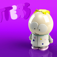 Small Butters Stotch in PJ's - South Park 3D Printing 130855