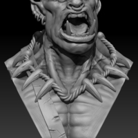 Small Orc Bust 3D Printing 130949