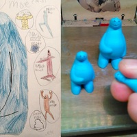 Small Moe - Kid drawing to 3D mini 3D Printing 131041