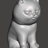 "Small ""NokHook"" The black cat 3D Printing 131125"