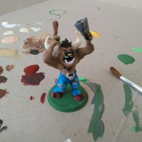 Small Minotaur Bard Mini 3D Printing 131132