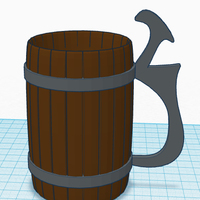 Small Simple Drinking Mug 3D Printing 131175