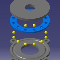 Small Thrust bearing, 4.5mm balls 3D Printing 131235