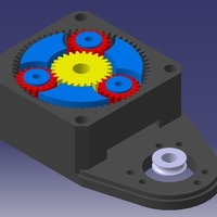 Small NEMA23 planetary gearbox with an encoder mount, 3.333 gear reduc 3D Printing 131245