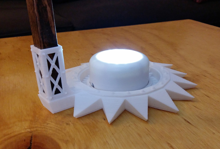 3d Printed Steampunk Accent Lamp By Brian Gale Pinshape