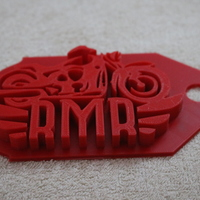 Small Royal Enfield Keychain For Bike Club 3D Printing 131377