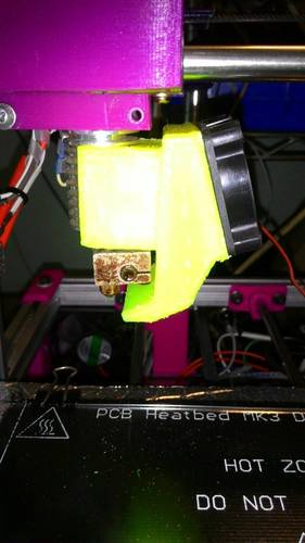 j_head 25mm. Fan with air cool object 3D Print 131394