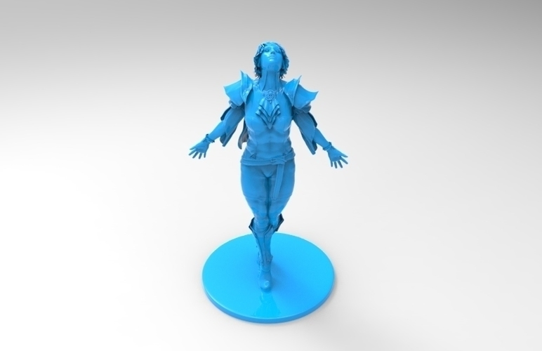 lady warrior 3D Print 131521
