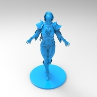 Small lady warrior 3D Printing 131521